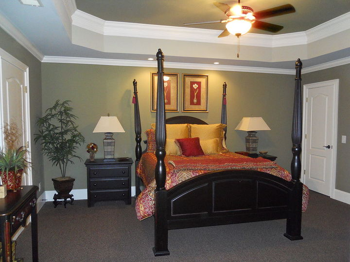 i like color this is a bedroom that i did with green, bedroom ideas, home decor