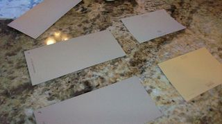 q i need help in choosing a color for my dinette wallpaper has to go as it is too busy, home decor, kitchen design