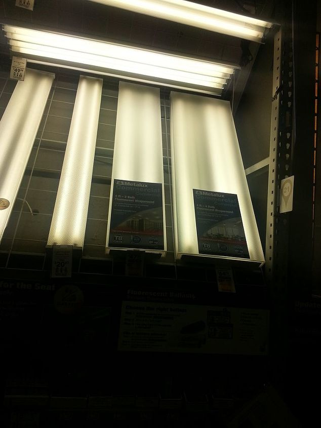 q fluorescent starters fluorescent lighting, lighting, will 2 bulb fixtiure be sufficient LOWES man said it would then changed his mind