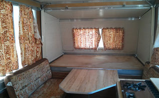 vintage camper remodel with tips you can use in your home, diy, home decor, reupholster, window treatments, Camper Before