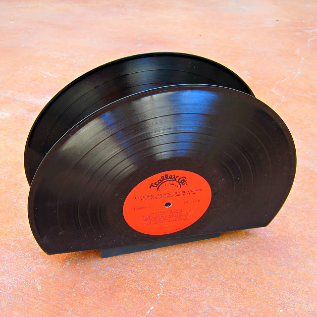 recycled vinyl albums, repurposing upcycling