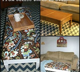 I Turned A 1 Coffee Table Into An Ottoman, Painted Furniture, From Ugly Old
