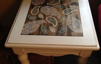 End Table Makeover With ASCP and Stencils!
