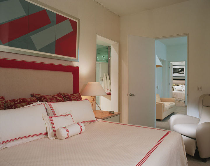 Parents master bedroom view to their private sitting and brother's or guest room.