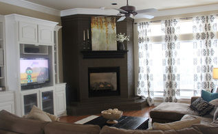 painted brick fireplace, fireplaces mantels, living room ideas, painting, Painted Brick Fireplace