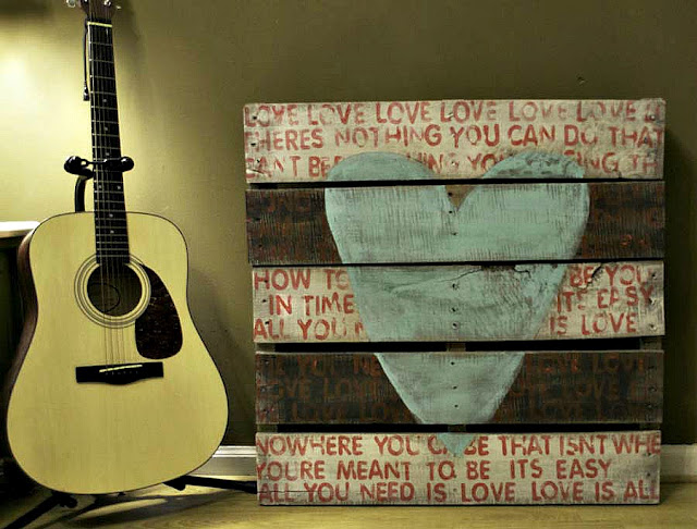 from pallet to art, crafts, pallet, From dusty pallet to Beatles song Art piece