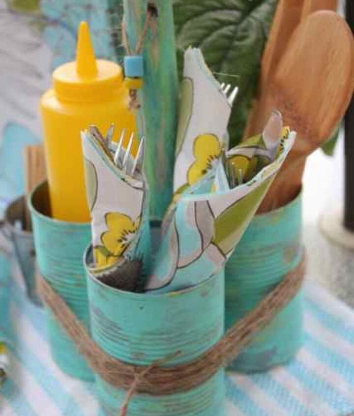 soup can caddy, crafts, repurposing upcycling