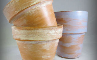 age terracotta pots the quick and easy way, crafts, painting, repurposing upcycling