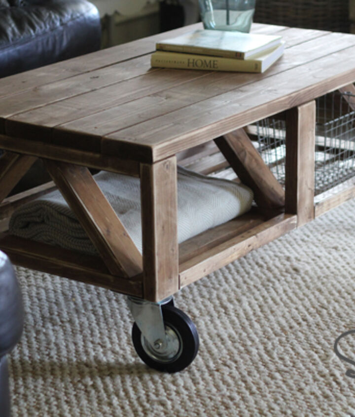 DIY Coffee Table on Wheels