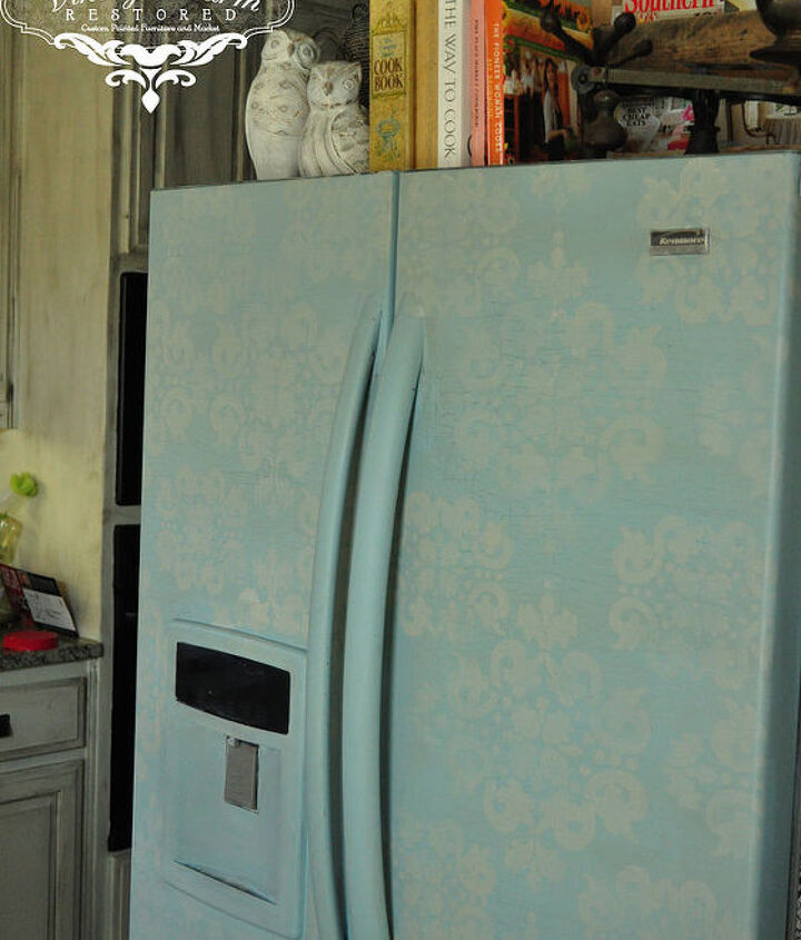 refrigerator makeover using maison blanche chalk paint, appliances, painting