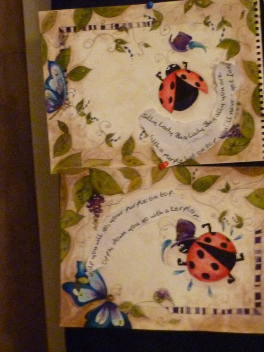 lady bug lady bug a story by sk, crafts, painting