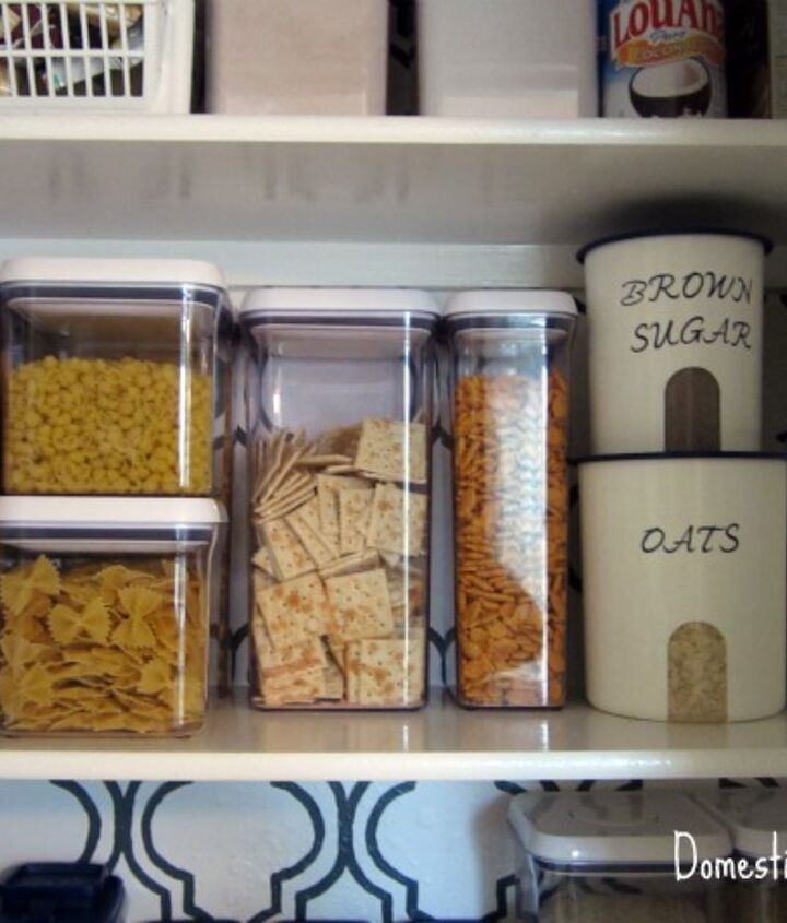 Most food is organized into clear canisters.