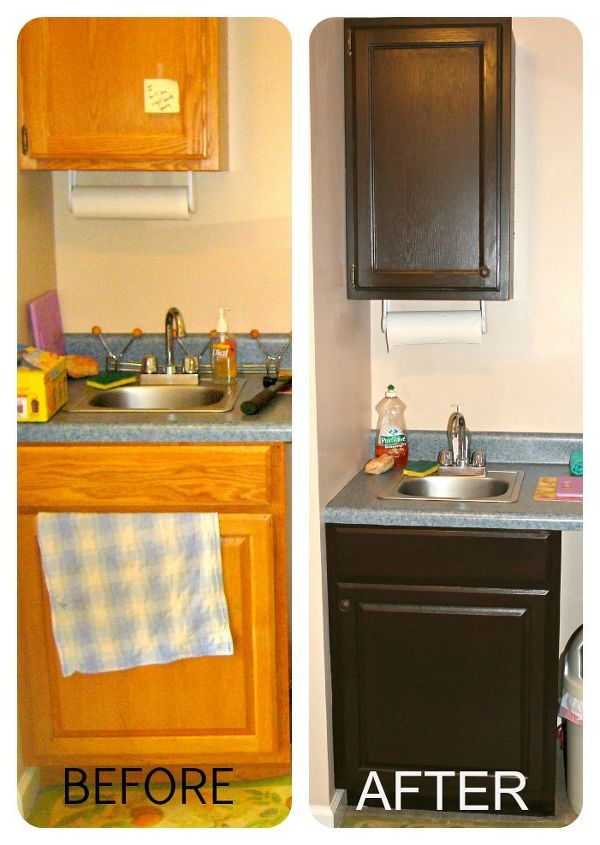 Painted cabinetry in the kitchenette