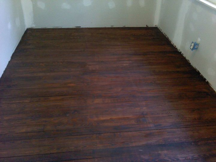 After sanding, planing, sanding, sanding, sanding, removed all old stain, stained, and varnished. This is the 1st coat.