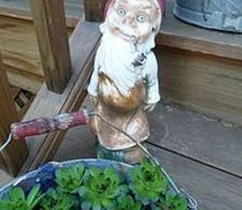 q garden gnomes love them or hate them, gardening, outdoor living, Vintage gnome fun in the garden