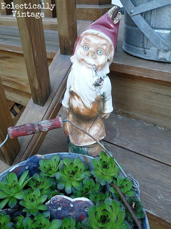 Vintage gnome - fun in the garden.