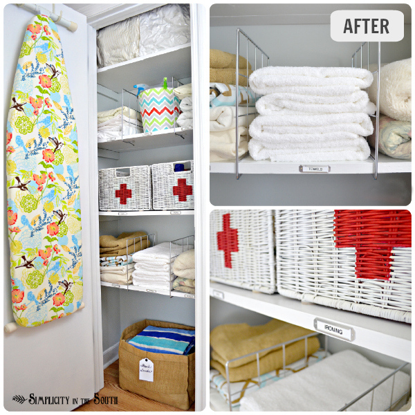 Linen Closet Organization Small Home Ideas Series Organizing