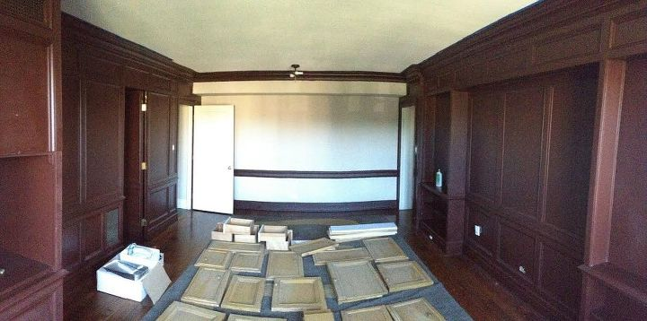 detroit condo library repaint, painting, storage ideas, woodworking projects, Before All walls and doors needed to be sanded prior to painting