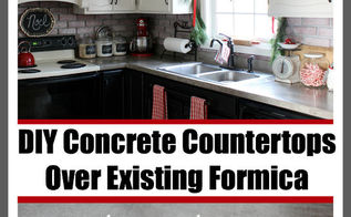 diy concrete countertops over existing formica, concrete masonry, concrete countertops, countertops, diy, how to, kitchen design