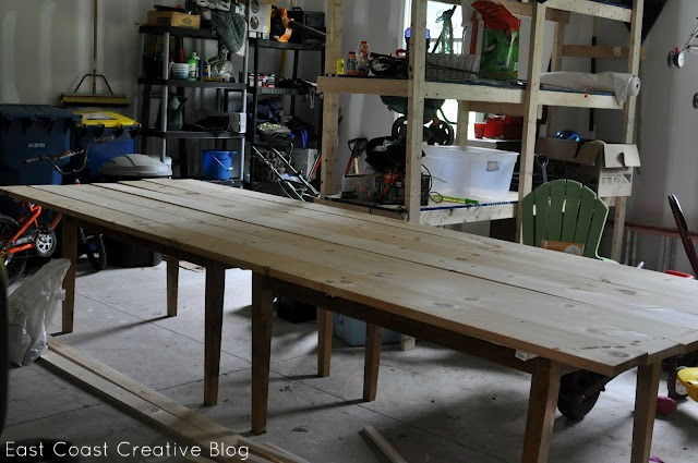 2 Tables become 1 http://www.eastcoastcreativeblog.com/2011/07/farmhouse-table-remix-tutorial.html