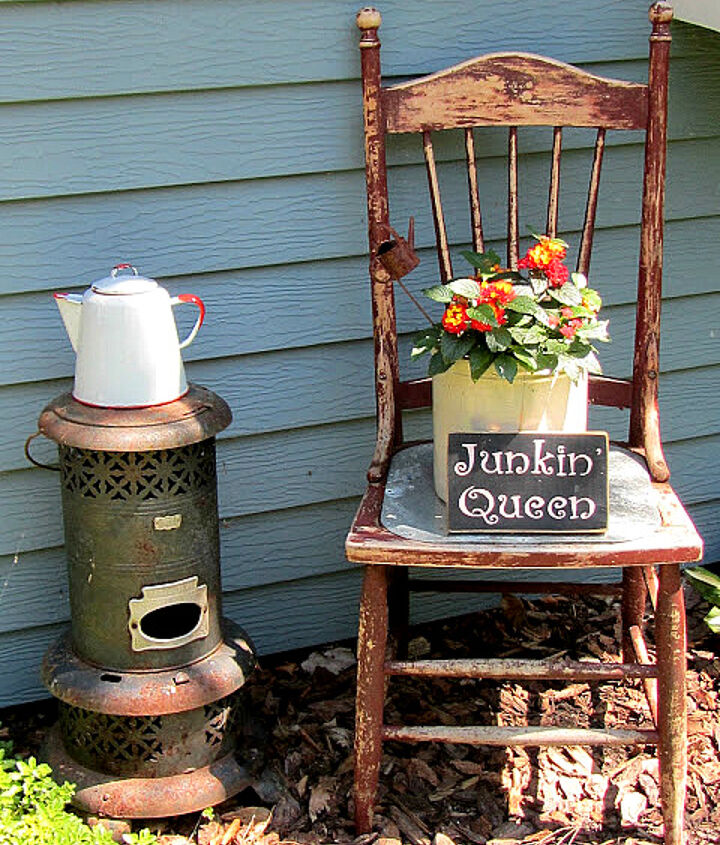 You can even set up a fun vignette with an old chair.