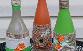 best of 2013, crafts, Making torches for the tiki wine bottles