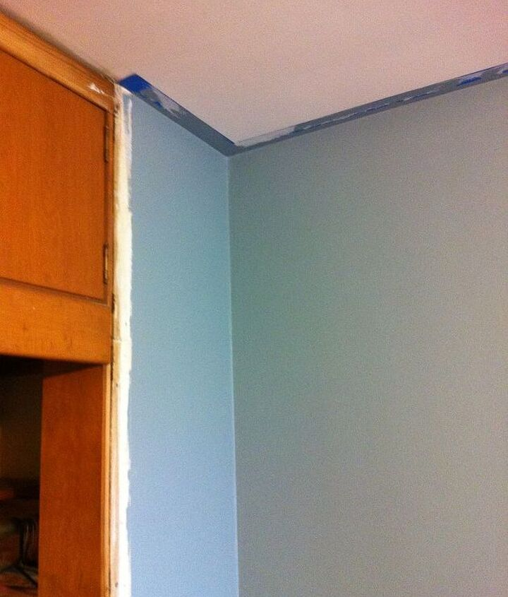 bedroom turned office, craft rooms, home decor, home office, painting
