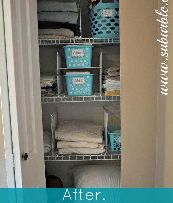 this hack will keep your linen closet organized for good, closet, shelving ideas, Admire your handiwork This set up practically enforces organization