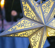 create some ambiance with diy paper star lanterns, crafts, lighting, outdoor living