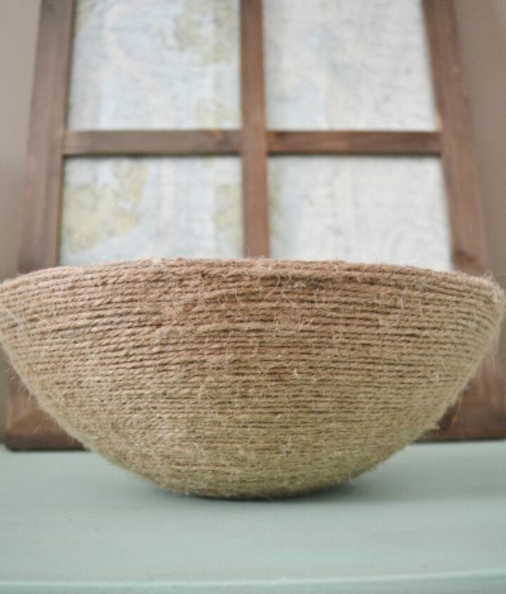 diy book page rope bowl, crafts, home decor
