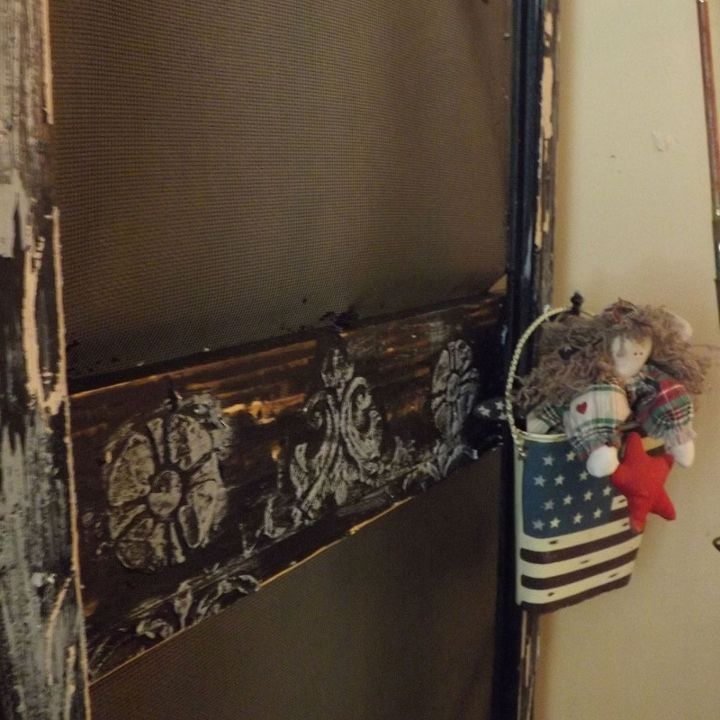 a crafted vintage faux cottage screen door, home decor, repurposing upcycling