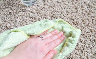 easy carpet cleaning tips, cleaning tips, flooring, Blot stains don t scrub to prevent driving them deeper