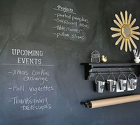 How To Make A Chalkboard Wall In Your Home Office Craft Room, Chalkboard  Paint,