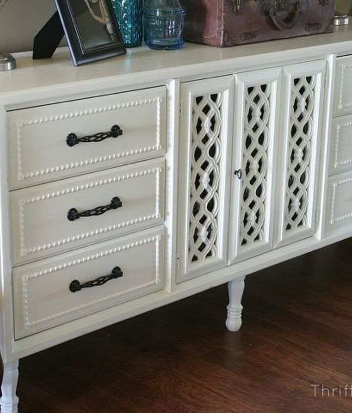 This was a dresser rehab that I turned into a beautiful sideboard.