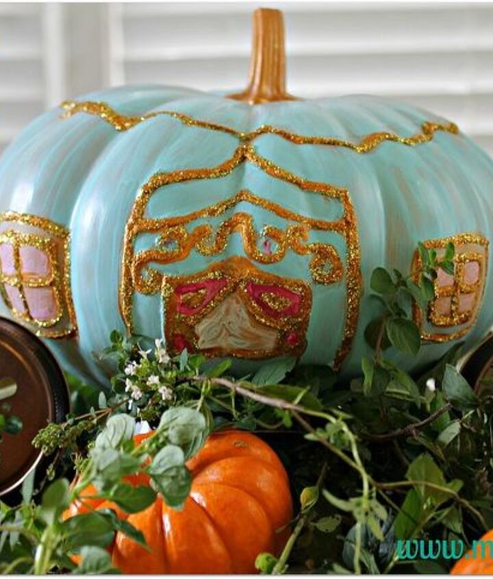 A pumpkin fit for a princess.