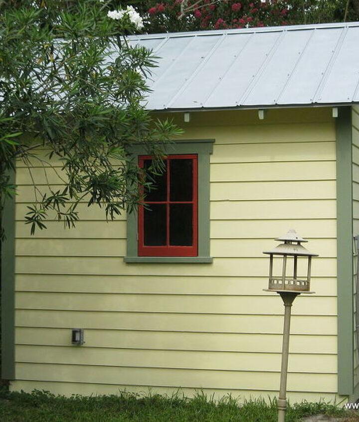 Salvaged wood windows used on the sides