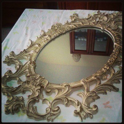 my chalk paint syrocco mirror, chalk paint, home decor, painting, the before