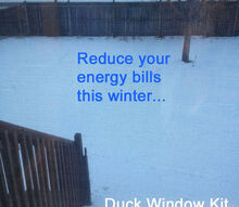 save money on energy bills, home maintenance repairs, lighting, windows, Plastic DUCK Window Kit does not obstruct your view
