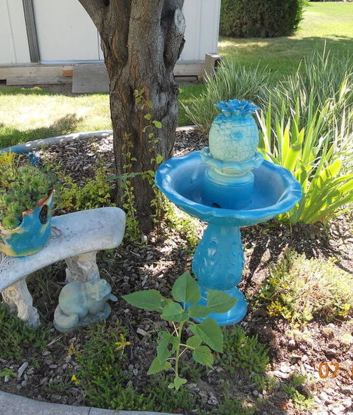 q my project with blue paint the i dont care howit turns out attitude, outdoor living, painting