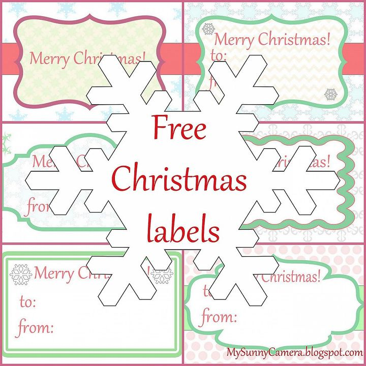 6 free printable christmas labels crafts