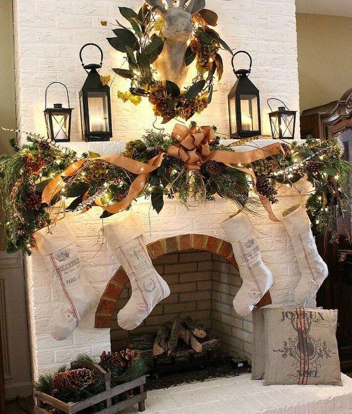 oh deer our christmas mantel, christmas decorations, seasonal holiday decor