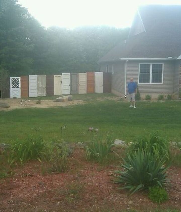 this is my new fence, diy renovations projects, fences, repurposing upcycling