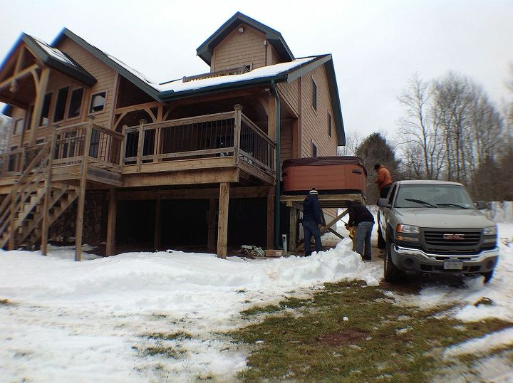 Bullfrog Spa Installed On A Second Story Deck In Windham