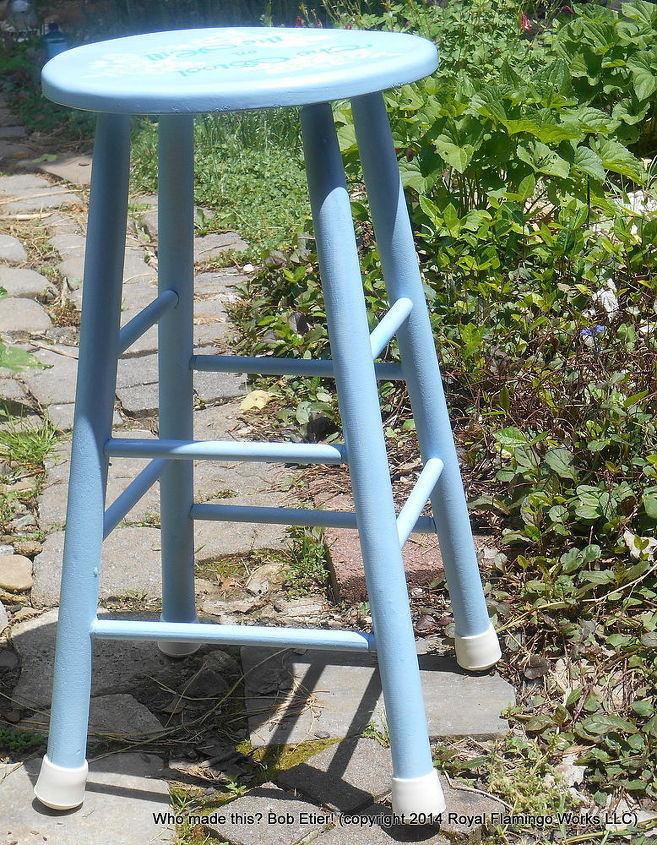 the stool on the hill, painted furniture