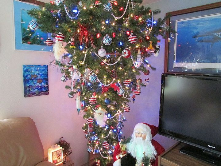Upside down Christmas tree.