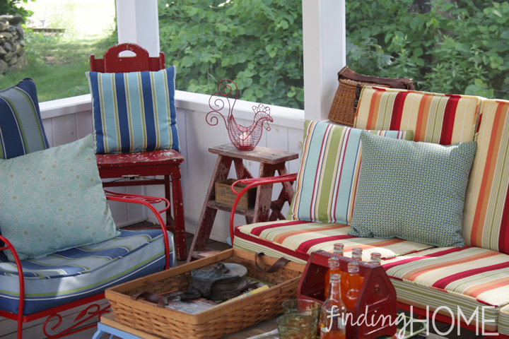 Finding Home Screen Porch - Where we eat, relax and spend time together away from the bugs!