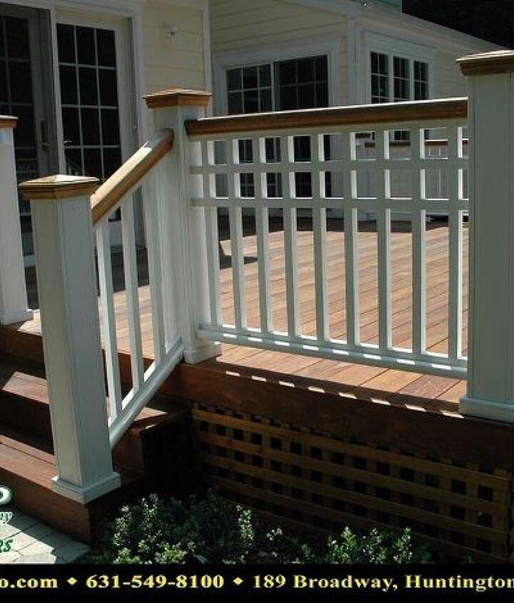 Ipe Decking, with custom white wood rail