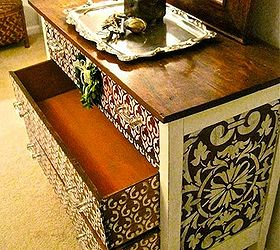 Charmant How To Stencil Wood Furniture With Chalk Paint Decorative Paint, Painted  Furniture, The Finished