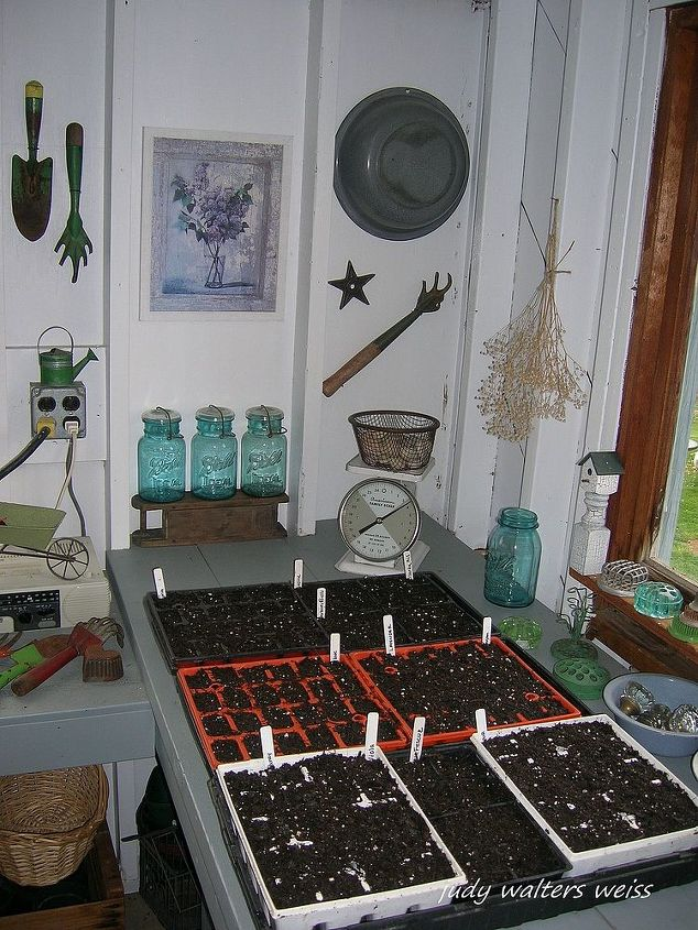 Seed starting day in the Potting Shed!