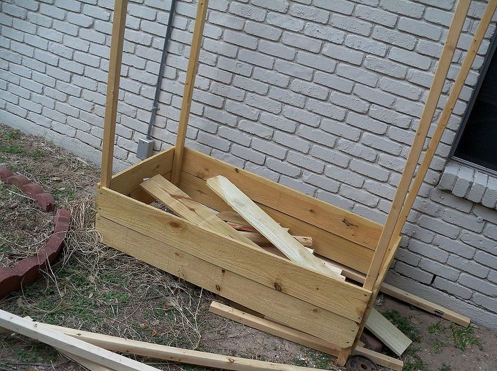 my inexpensive space limited apartment dweller garden, diy, flowers, gardening, how to, raised garden beds, urban living, All the wood cut and ready to build